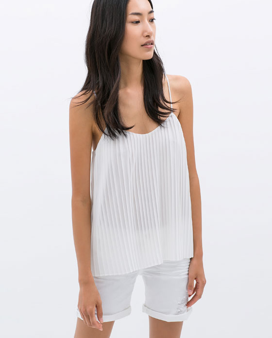 1 zara peated top