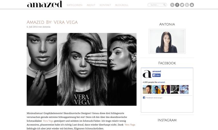Amazed By : VERA VEGA